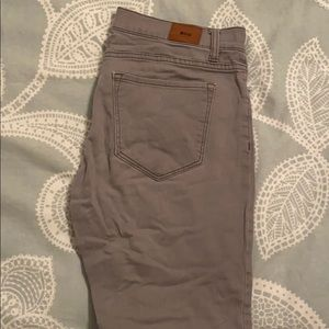 BDG Gray Mid Rise Twig Jeans